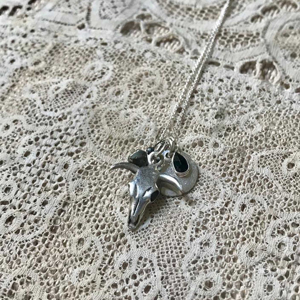'skull multi pendant' necklace | 925 silver