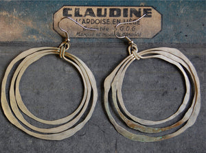 argentine organic circles earrings