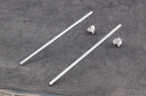 long bar earrings (925 silver)