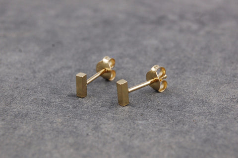 mini bar earstuds (925 silver gold-plated)
