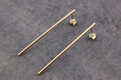 long stick earrings (925 silver gold-plated)