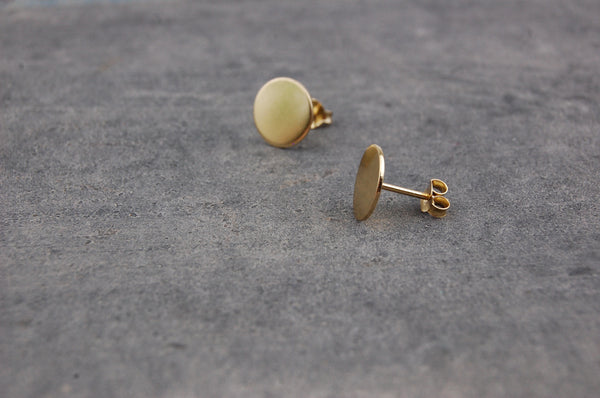 round earstuds (925 silver gold-plated)