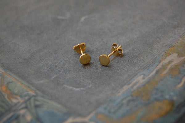 mini round earstuds (925 silver gold-plated)