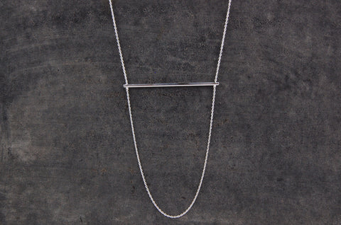 horizontal bar necklace (925 silver)
