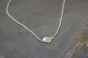 disc necklace (925 silver)