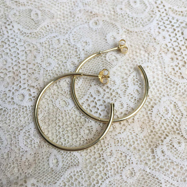 Luisa c-hoop earrings - Gold plated