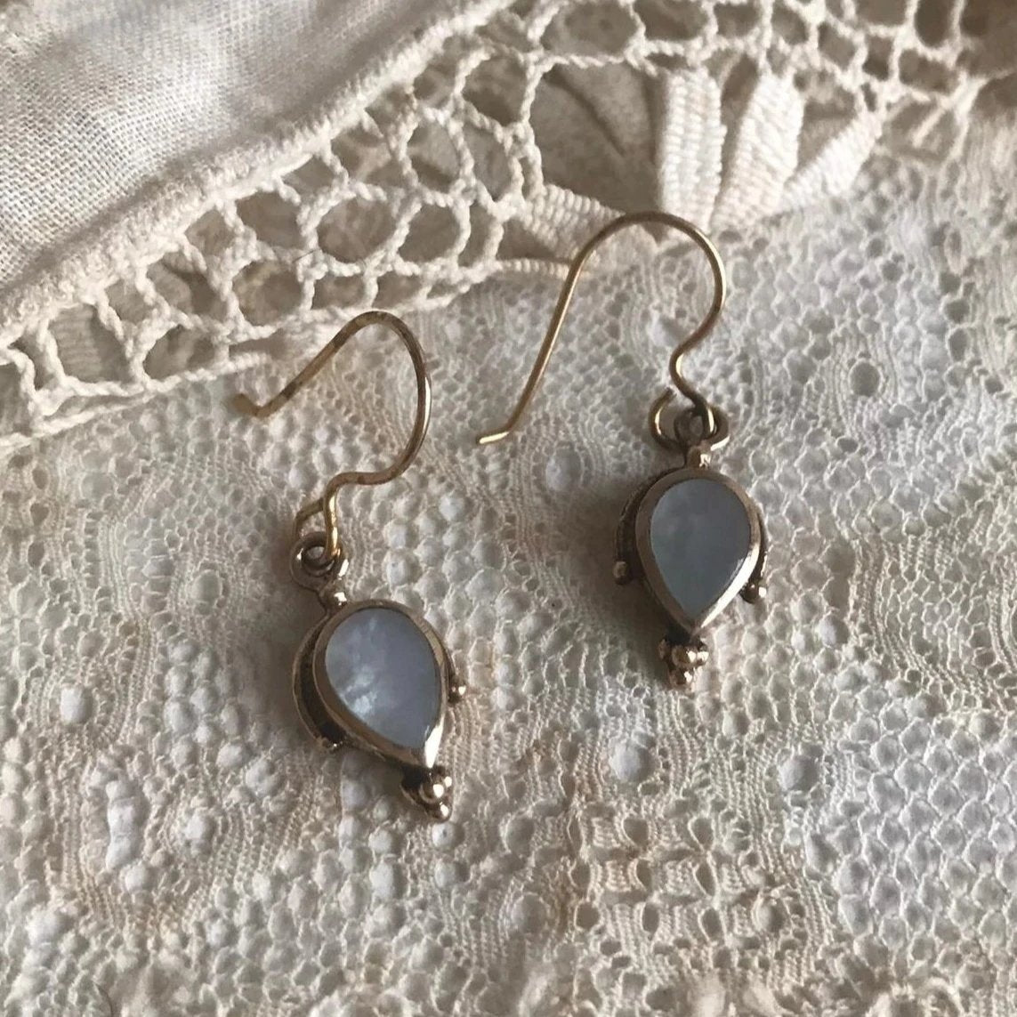ina earrings with mother of pearl