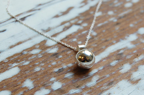 ball pendant necklace (925 silver)