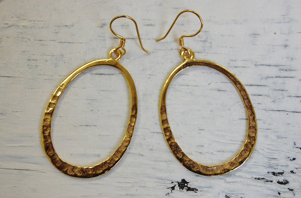 oval earrings bronze