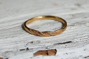 braided bronze ring