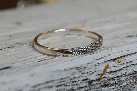 braided 925 silver ring