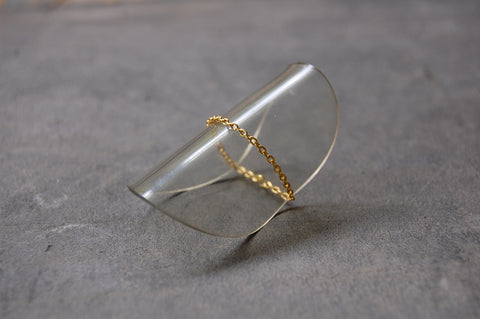 925 silver chain ring gold-plated
