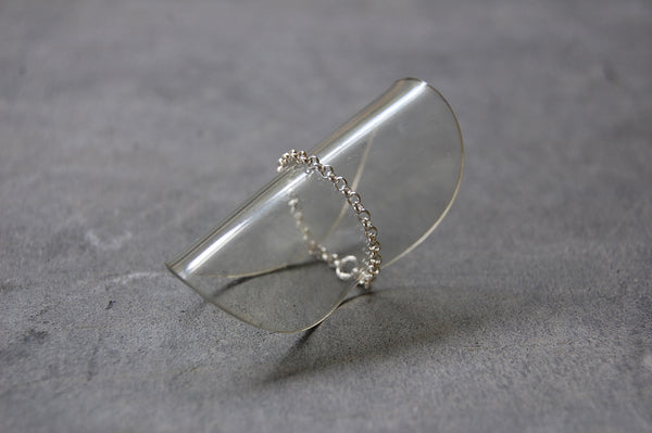 trace chain ring - 925 silver