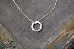 circle ring necklace (925 silver)