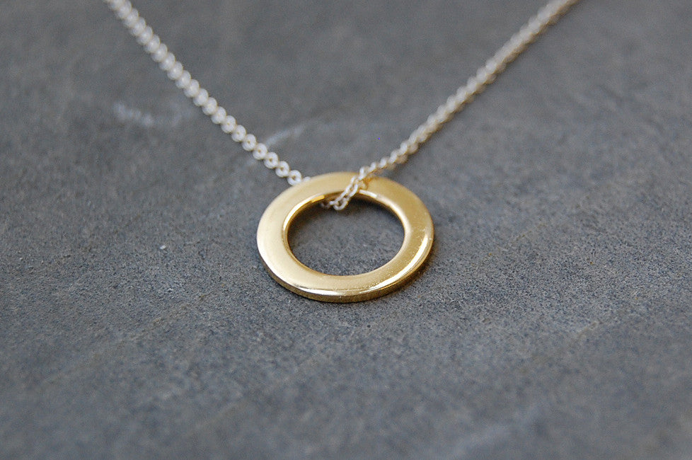 circle ring necklace | 24k gold-plated