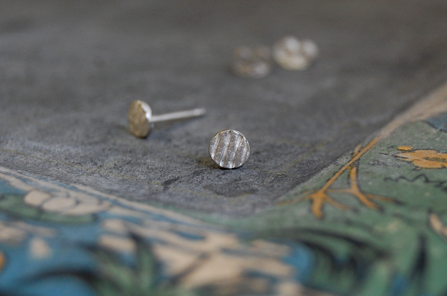 circles & stripes earstuds (925 silver)