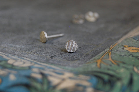 'circles & stripes' earstuds | 925 silver