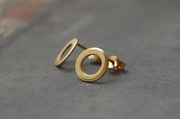 circle earstuds (925 silver gold-plated)