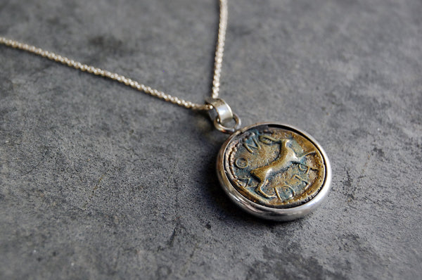 roman coin pendant (20/20mm) necklace