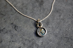 roman coin pendant (10/10mm) necklace