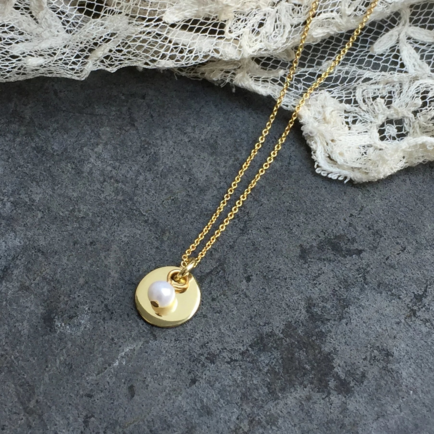 coin and sweet water pearl necklace - gold plated
