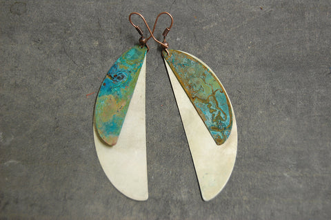 crescent earrings (colour variation)