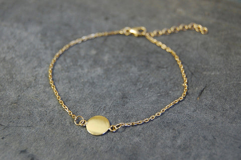 disc bracelet 925 silver gold-plated