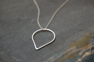 droplet ring (925 silver) necklace