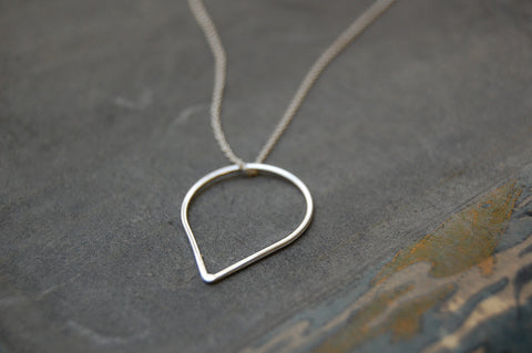 'droplet' ring | 925 silver necklace