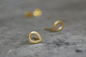 droplet shapes earstuds 925 silver gold-plated
