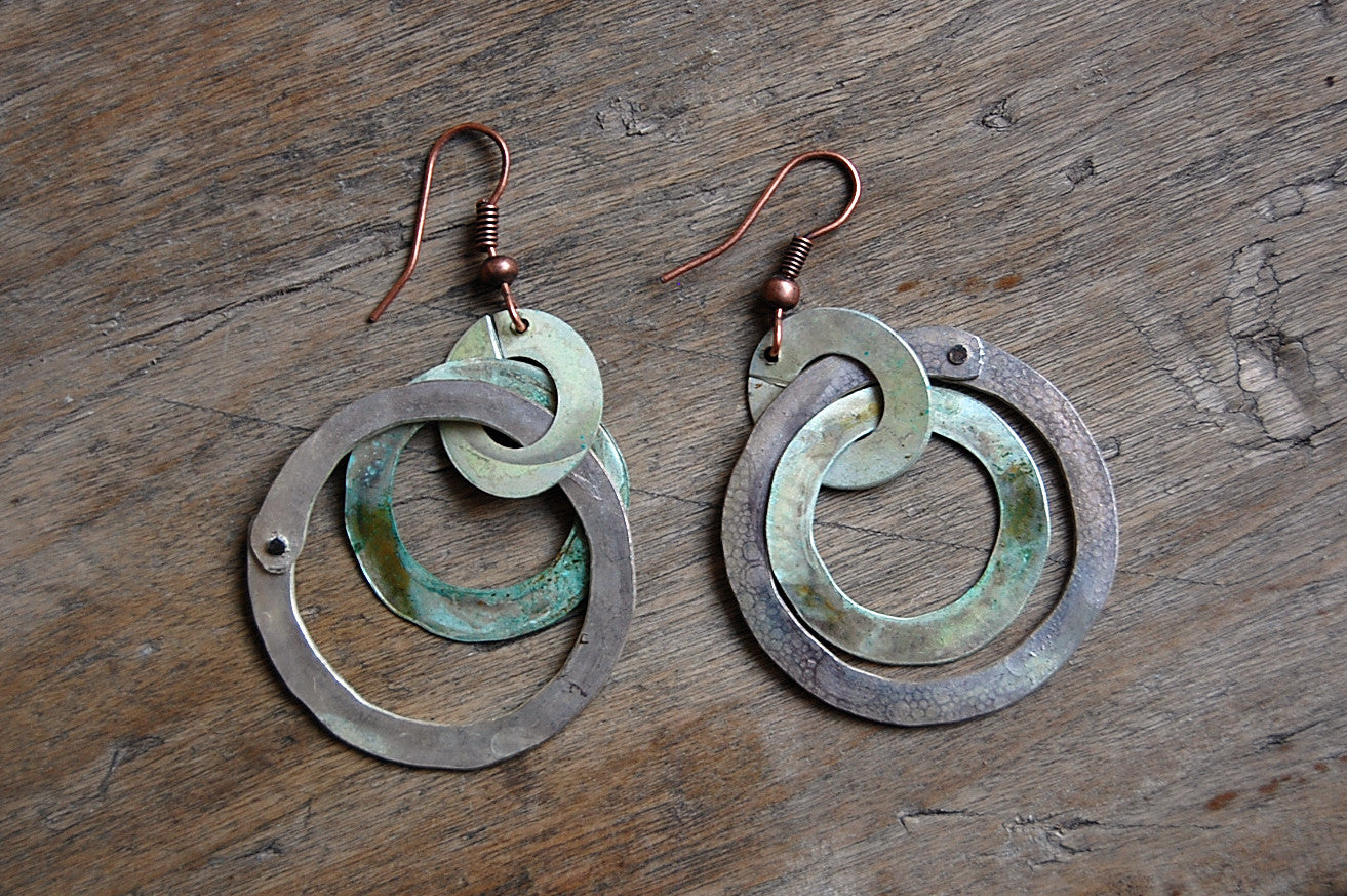 argentine | organic circle earrings