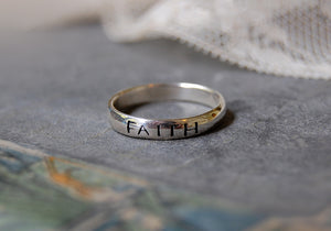 'faith' ring | 925 silver