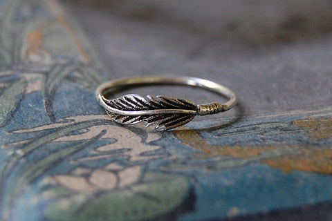 'feather' ring | 925 silver