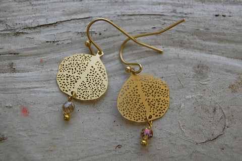 filigree earrings with crystal