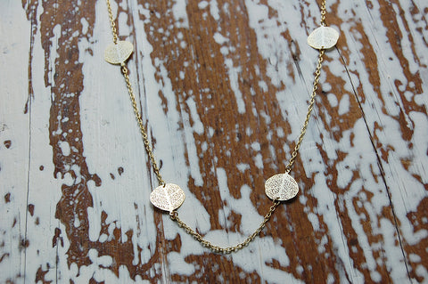 filigree leaves necklace (gold plated)