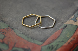hexagonal ring pendants
