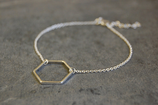 'hexagonal ring' bracelet | 925 silver