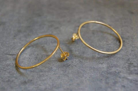 hoop earrings (925 silver gold-plated)