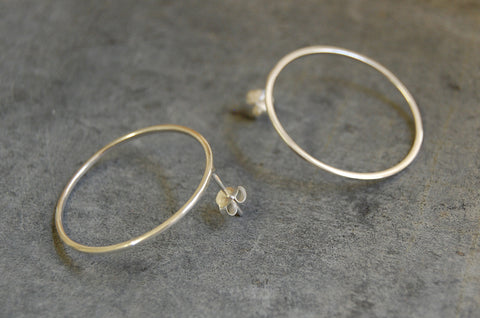 hoops earrings (925 silver)
