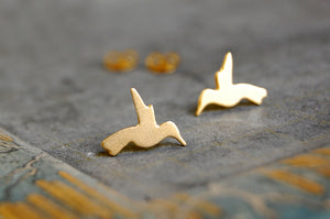 humming bird ear studs