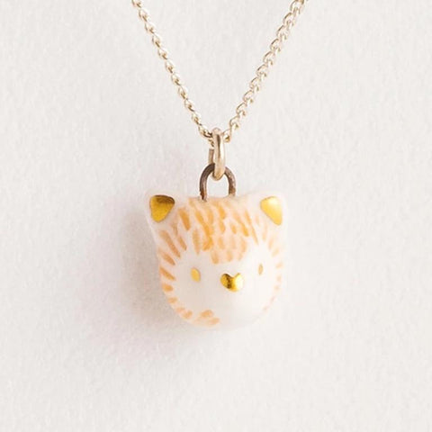 mini red fox necklace