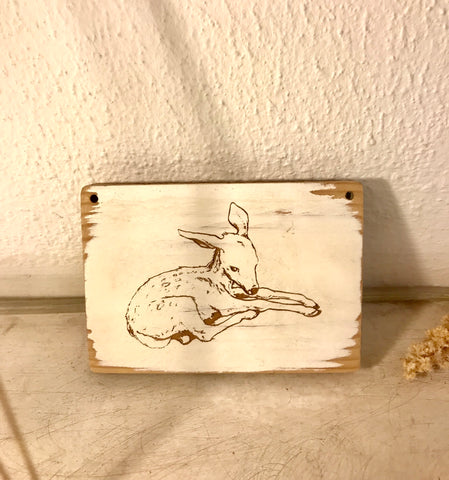 deer engraved