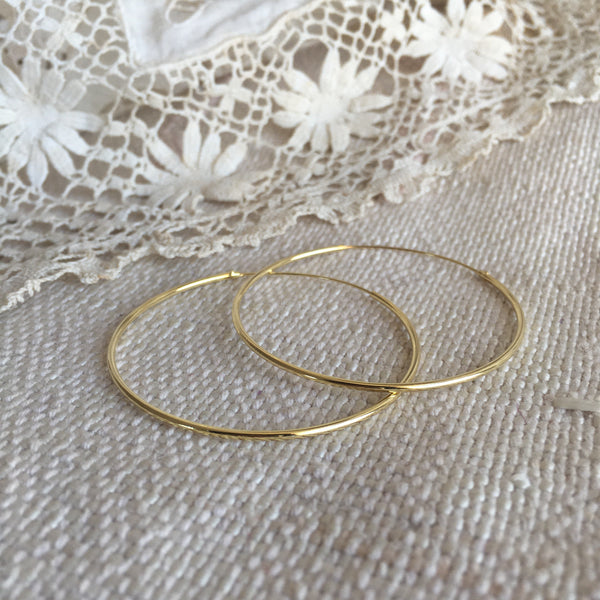 classic hoops - 24k gold plated - 45mm