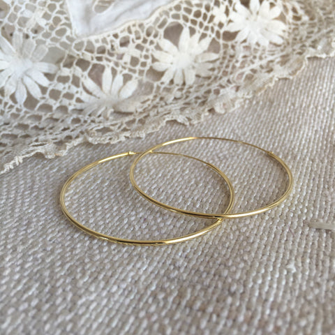 'classic' hoops | 24k gold-plated | 45mm