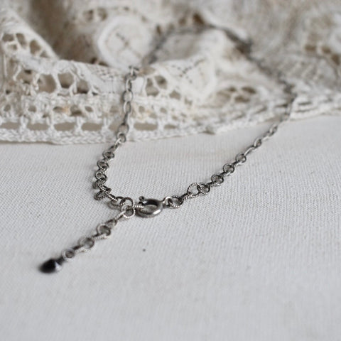 onyx | 'braided' chain choker | 925 silver