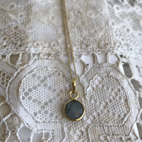 Stone necklace * labradorite*