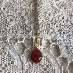 """ Ruby"" necklace"