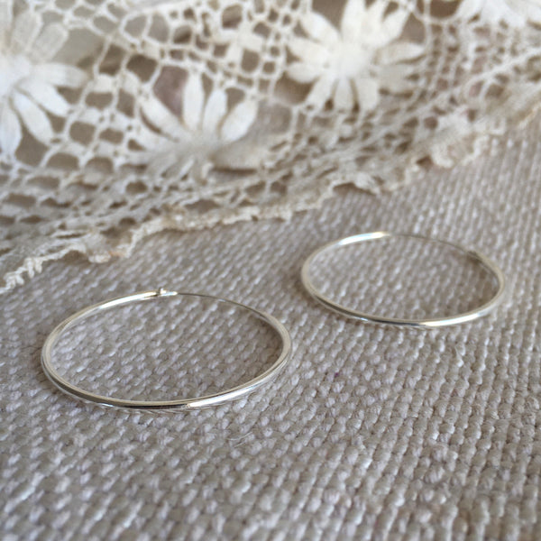 'classic' hoops | 925 silver | 30mm