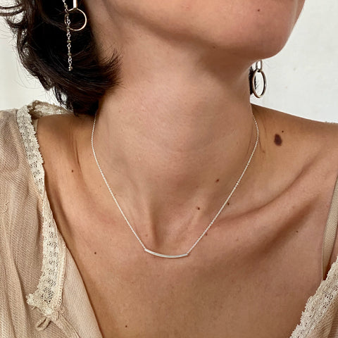'tubular bar' necklace | 925 silver