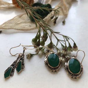 jade | 'chatra' earrings | bronze